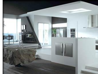 R novation am nagement appartement cuisine for Modele faux plafond cuisine